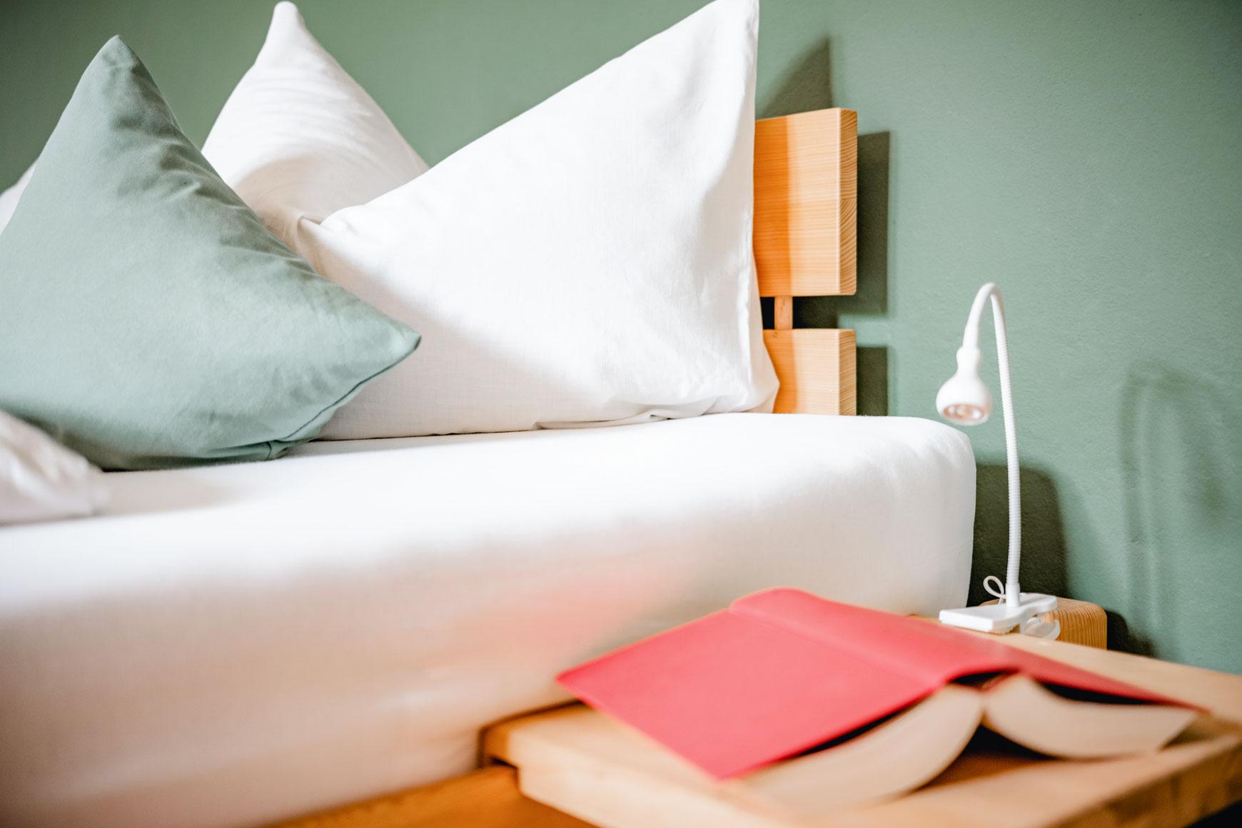 Detailsansicht Bett - So übernachte Sie bei uns